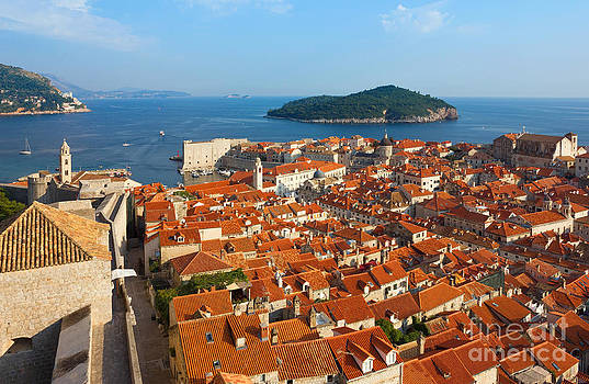 Dubrovnik Sunny Afternoon Panoramic View with The Harbor and old by Kiril Stanchev