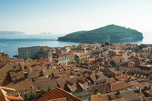 Dubrovnik View to the Sea by Phyllis Peterson