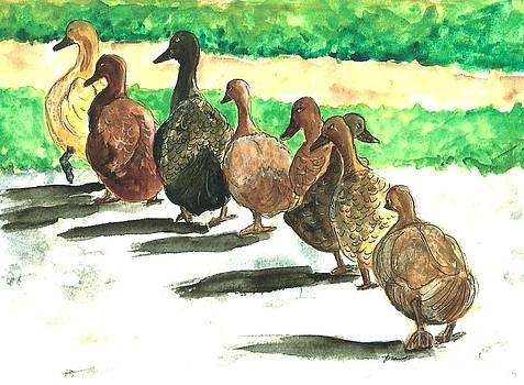 Ducks in a Row by Jeanne Grant