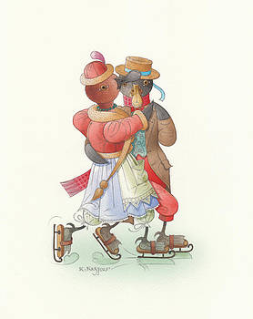 Ducks on skates 02 by Kestutis Kasparavicius