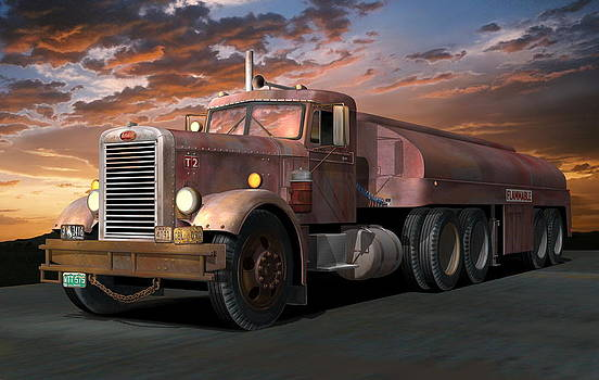 Duel Truck with trailer by Stuart Swartz