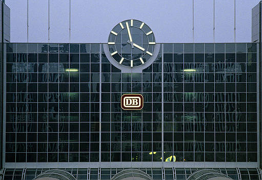 Duesseldorf Station Clock Germany by David Davies