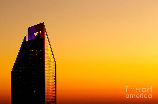 Duke Energy Tower at sunset by Patrick Schneider