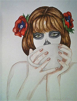 Dulce Calaveritas -progression one by Jen Coffey