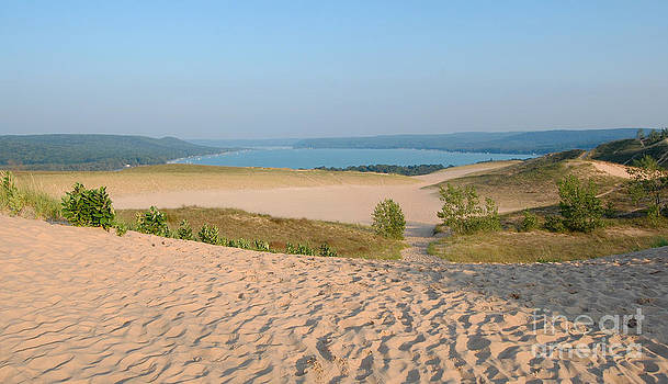 Dunes and bay Sleeping bear dunes by Susan Montgomery