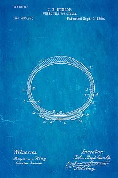 Ian Monk - Dunlop Cycle Tire Patent Art 1890 Blueprint