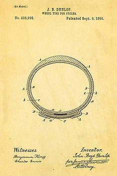 Ian Monk - Dunlop Cycle Tire Patent Art 1890
