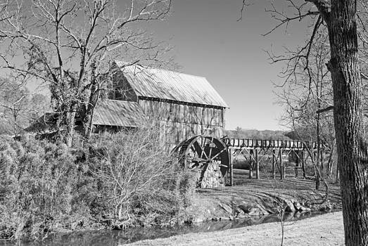 Dunn's Mill 1 - Black and White by Kristen Mohr