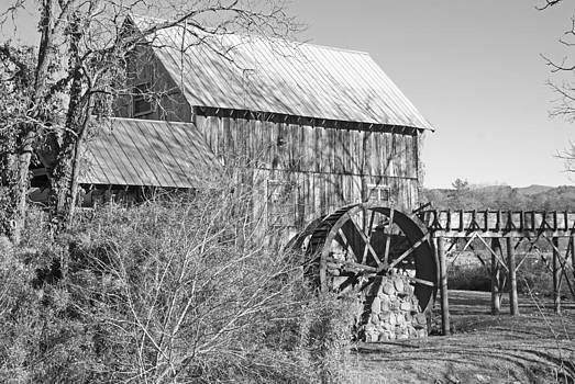 Dunn's Mill 2 - Black and White by Kristen Mohr