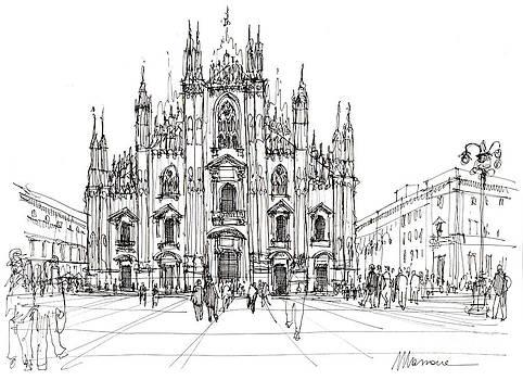 Duomo di MIlano- schizzo by Luca Massone