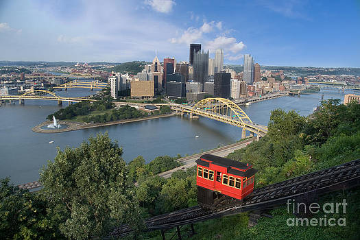 Duquesne Incline Overlooking Pittsburgh Pennsylvania by Sharon Dominick