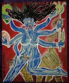 Durga invoking Kali Ma by B Melusine Mihaltses