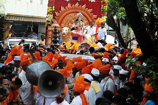 Durga Procession by Money Sharma
