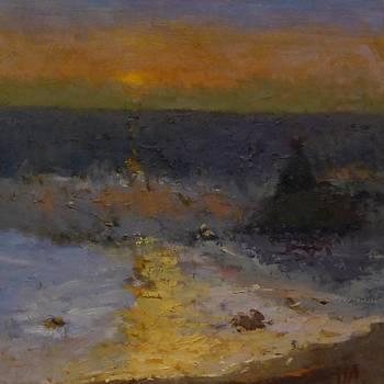 Dusk and Sea by Irena  Jablonski