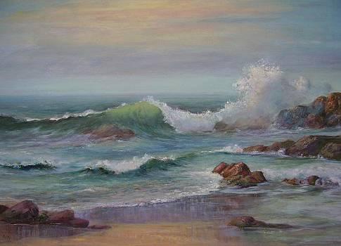 Dusk at the Beach by Rita Palm