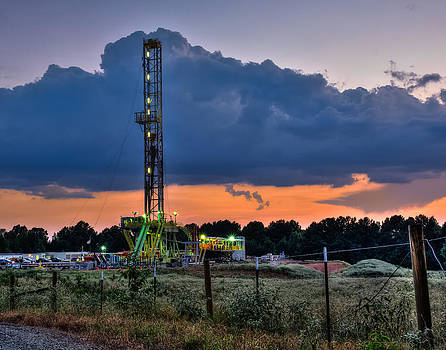 Dusk at the Rig by Geoff Mckay