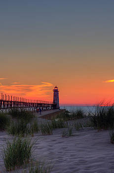 Dusk in Manistee by Megan Noble