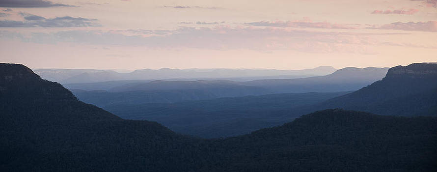 Dusk in the Blue Mountains by Joe Wigdahl