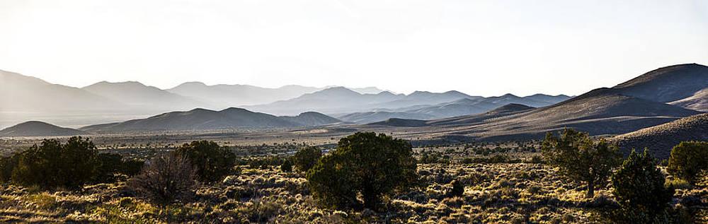 Dusk on Extraterrestrial Highway by Gej Jones