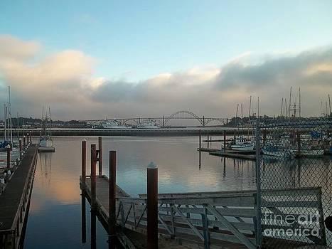 Dusk on the Harbor by Sandra McClure