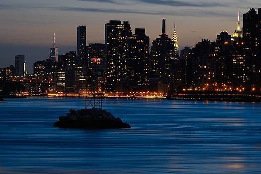 Dusky NYC Skyline by Mark Garbowski