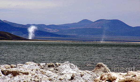 Dust Devils of Mono Lake by Thomas Bomstad