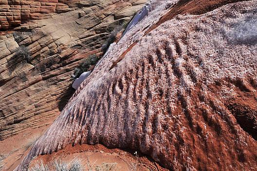 Dusted Snow White Pocket Paria Plateau Northern Arizona 2010 by John Hanou