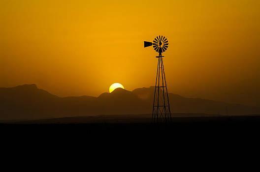 Dusty Sunset by John Dickinson