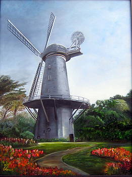 Dutch Windmill San Francisco by LaVonne Hand