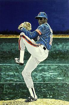 Dwight Gooden - New York Mets by Mike Rabe