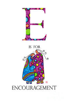 E is for Encouragement by Emily Lupita Studio
