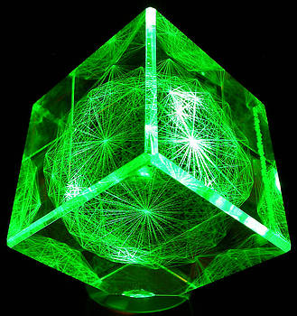 E8 Laser Etched in Optical Crystal by J Gregory Moxness