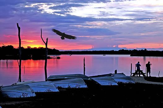 Randall Branham - Eagle  Fishermen at Sundown
