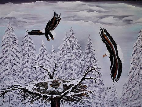 Eagle Family Majestry by Adele Moscaritolo