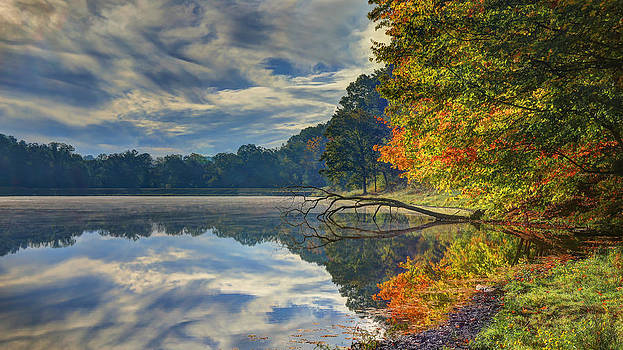 Early Autumn at Caldwell Lake by Jaki Miller