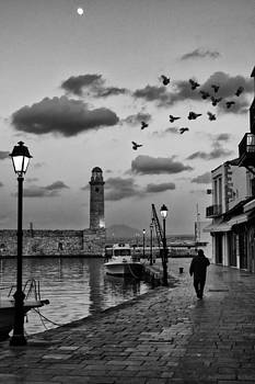 Early evening walk in the old port by Spyros Papaspyropoulos