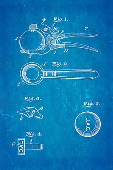 Ian Monk - Early Golf Ball Marker Patent Art 19th Century Blueprint