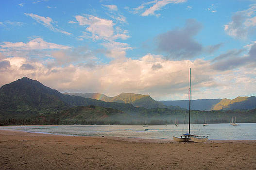 Early Morning - Hanalei Bay by Stephen  Vecchiotti
