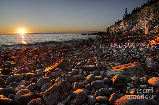 Oscar Gutierrez - Early morning on a stone beach