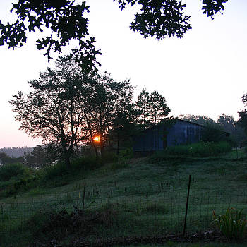 Nina Fosdick - early morning sunrise barn