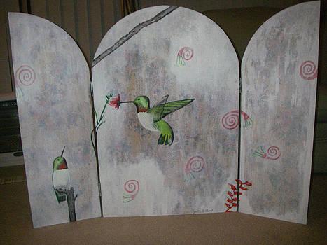 Early Spring A.k.a Hummingbirds by Cynthia Hilliard