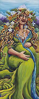 Earth Goddess Lady of the North by Helga HedgeWalker