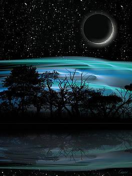 Earthshine 3 by David Cowan