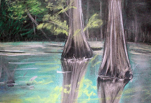 East Texas Cyprus in Pastels by Shere Crossman