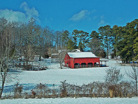East TN Snow and RED by Regina McLeroy