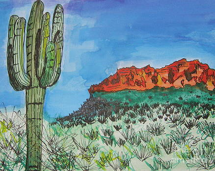 East Valley Mountains by Marcia Weller-Wenbert