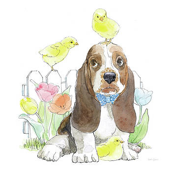 Easter Pups V by Beth Grove