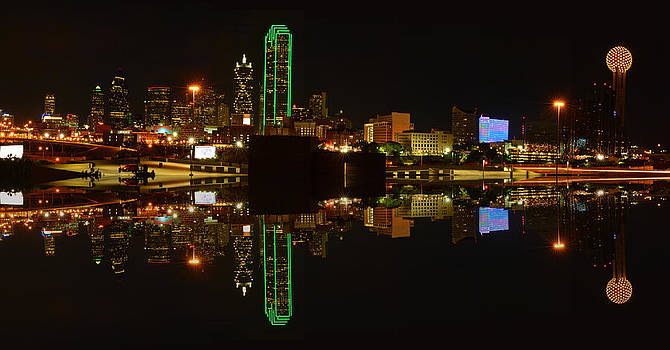 Eastern Skyline of Dallas with Reflection by Jim Martin