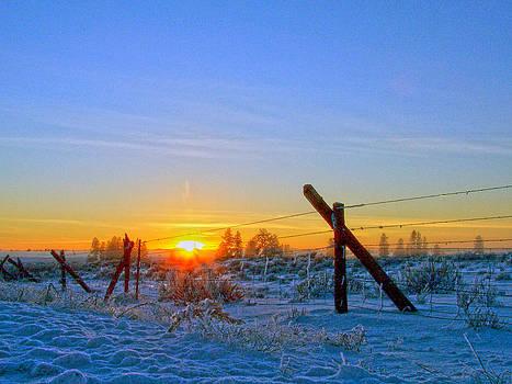 Eastern Washington winter sunset by Dan Quam