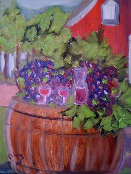 Easy Afternoon At The Winery by Danielle Landry